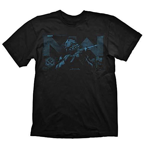 Gaya Entertainment Call of Duty Modern Warfare Blue Target - Camiseta Negro  XXL