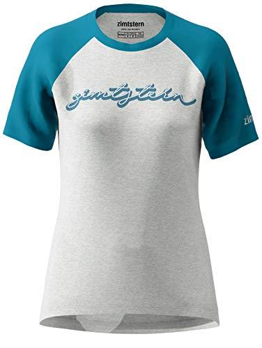 Zimtstern - Maglietta da Donna Sweetz Tee Wmns, Donna, T-Shirt, W20011-2010-02, Grigio Melange/Blu Acciaio, S