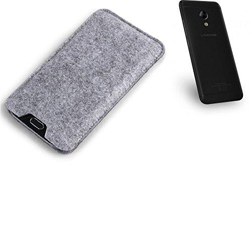 K-S-Trade® Filz Schutz Hülle Für UMIDIGI C2 Schutzhülle Filztasche Filz Tasche Case Sleeve Handyhülle Filzhülle Grau
