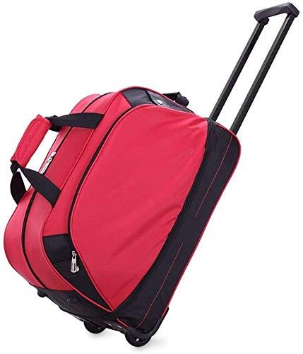 GQY Trolley - luggage suitcase travel bag sports bag laptop bag (Color : Rouge, Size : 36 * 26.5 * 55.5cm)