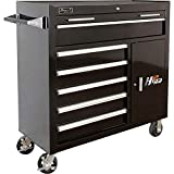 Homak H2PRO Series 41-Inch 6-Drawer with 2-Drawer Compartment Roller; Black; BK04041062