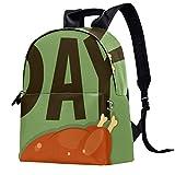 Lovely Cat Rucksack Multifunktions Trekking Tagesrucksack Schulrucksack Outdoor Sport Büchertasche, Größe: 36,8 x 31,8 x 15 cm mehrfarbig09 14.5x12.5x5.9in