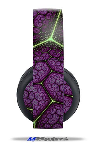 Vinyl Decal Skin Wrap compatible with Original Sony PlayStation 4 Gold Wireless Headphones Linear Cosmos Purple (PS4 HEADPHONES NOT INCLUDED)