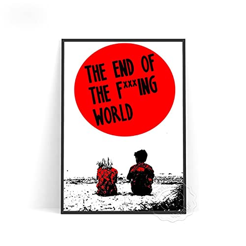 lubenwei Vintage Poster The End of the Fing World Prints Canvas Painting Wall Art Decor for Bedroom Decoration Wall stickers (AU-967) 50x70cm No frame