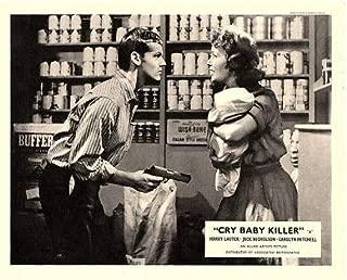CRY Baby Killer Original Lobby Card Jack Nicholson with Gun on Lynn Cartwright