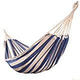 <span class='highlight'>Outdoor</span> <span class='highlight'>Hammock</span>, Blue And White Striped Canvas Anti-Rollover <span class='highlight'>Hammock</span>, Portable <span class='highlight'>Hammock</span> Swing, <span class='highlight'>Garden</span> Courtyard Beach,190x80cm