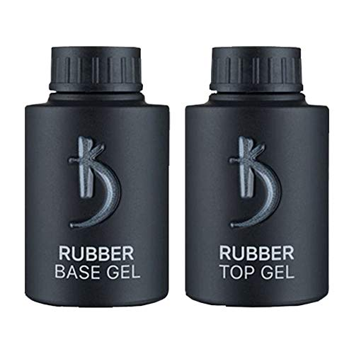Professional Rubber Top & Base Gel Set By Kodi | 35ml | Soak Off, Polish Fingernails Coat Kit | For Long Lasting Nails Layer | Easy To Use, Non-Toxic & Scentless | Cure Under LED Or UV Lamp