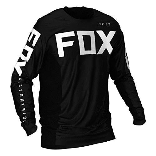 Yutich Herren Downhill Trikots Hpit Fox Mountainbike MTB Shirts Offroad DH Motorrad Trikot Motocross Sportwear BekleidungBike-M