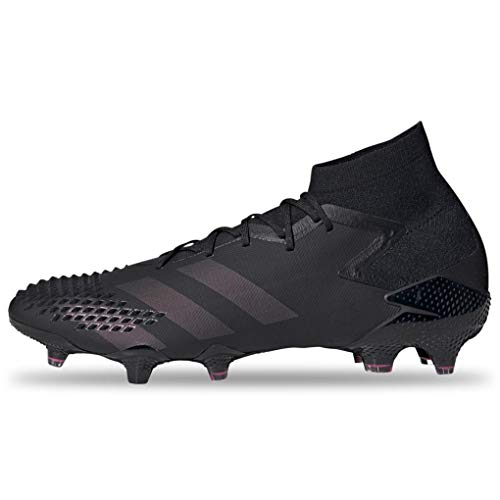 adidas Predator Mutator 20.1 Firm Ground Soccer Shoe, Black/Black/Shock Pink, 10.5