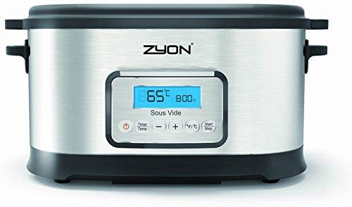 Zyon - Bollitore sottovuoto (Sous Vide) Premium ideale per cotture lente, potenza 520 W, capacità 8,5 l, dotato di griglia e pinze comprese nel prezzo