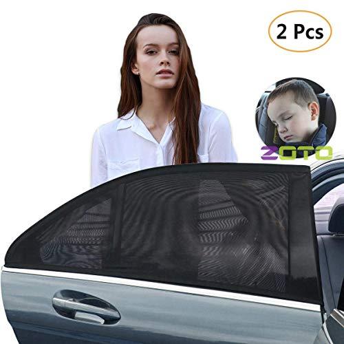 Afufu Zonnescherm voor kinderen, 2 stuks, UV-bescherming, zonwering voor achterruiten, ramen, geschikt voor de meeste auto's.