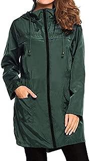 BEESCLOVER 2018 Winter Coat Women Plus Size Solid Long Lightweight Travel Waterproof Raincoat Hoodie Windproof Coat Jacket JAN8