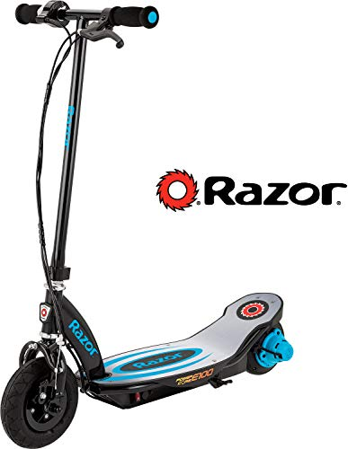 Razor Power Core E100 Electric Scooter - Aluminum Deck - Blue - FFP