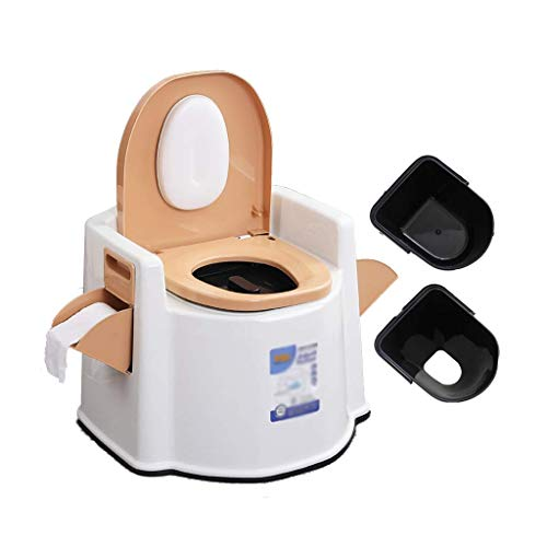 WC portatile pratico e comodo da campeggio con porta carta igienica.Toilette da campeggio, adatta per emergenze all'aperto, campeggio e sonno, viaggi in auto (colore: 2 barili solidi) Facile da usare