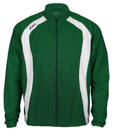 Asics Jr. Caldera jóvenes Big Boys Athletic Lightweigh chaqueta, Bosque/blanco