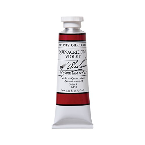 M. Graham Artist Oil Paint Quinacridone Violet 1.25oz/37ml Tube