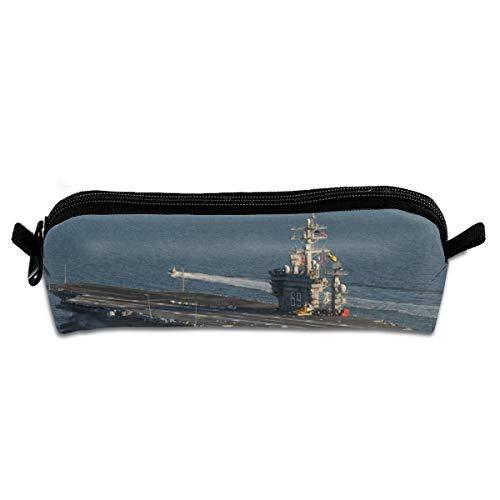 USS Dwight David Eisenhower CVN 69 Unisex Federmäppchen Büro Stifthalter Organizer Schreibwaren Tasche Kosmetiktasche