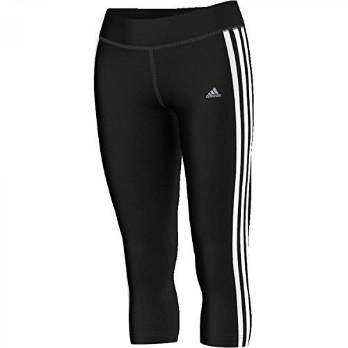 adidas Damen Sporttights Ultimate 3-Stripes 3/4, Black/White, M