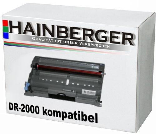 Hainberger Trommeleinheit für Brother DR-2000 - Schwarz,12.000 Seiten, kompatibel zu DR-2000. Drum Geeignet für Brother HL-2030 HL-2040 , HL-2070N , DCP-7010 , DCP-7025 , MFC-7420 , MFC-7820N , MFC-7225N , DR-2000 Drum