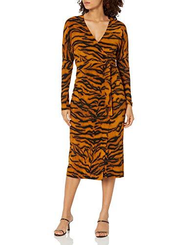 Norma Kamali Damen Dolman WRAP Straight Dress Kleidung, Business/Leger, Tiger, 66