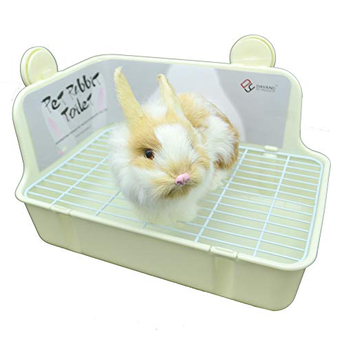 WYOK Potty Trainer Corner Litter Box Pet Pan Bedding Small Animal, Rabbit Hamster Guinea Pig Ferret Gerbil Chinchilla