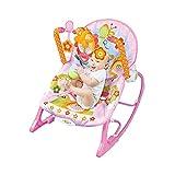 Nrkin Mecedora para bebé, transpirable, máxima capacidad de carga de 13 kg, multifuncional, con vibración, con música