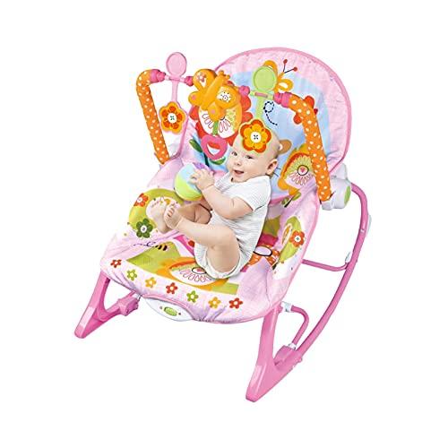 Nrkin Dondolo traspirante per bambini, portata massima 13 kg, multifunzione, con vibrazione, per dormire con musica