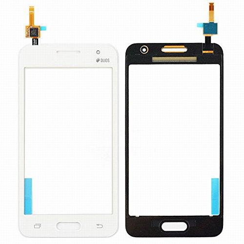 WeDone para Samsung Galaxy Core 2 Duos SM-G355H G355 Pantalla Táctil Digitalizador Vidrio(Sin LCD) Reemplazo y Herramientas (Blanco)