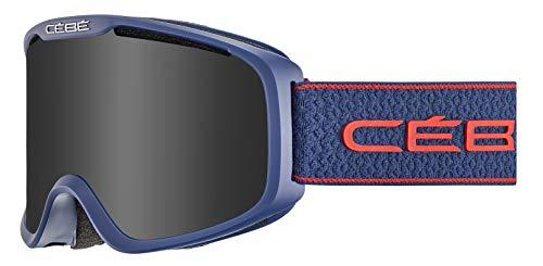 Cébé Falcon skibrillen, uniseks, volwassenen, mat navy rood, medium