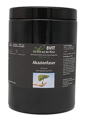 Akazienfaser - enthält 90% Ballaststoffe - trägt bei zu einer Unterstützung der Verdauung