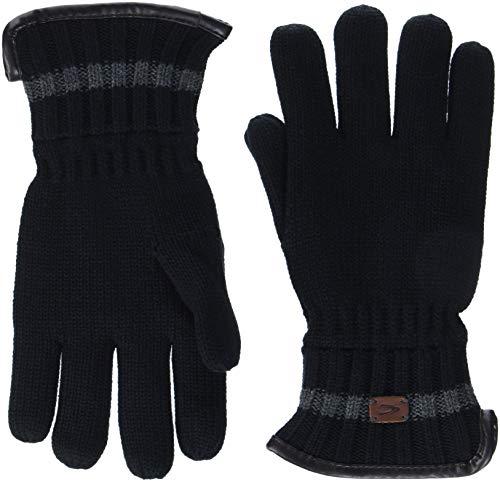 camel active Herren 408310/8G31 Handschuhe, Mehrfarbig (Black/White 8), Medium