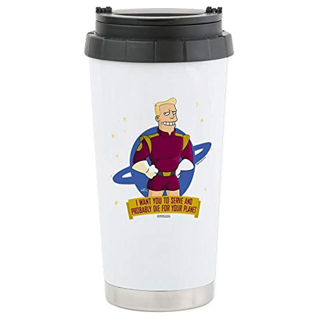 CafePress Futurama Zap Brannigan Stainless Steel Travel Mug Stainless Steel Travel Mug, Insulated 16 oz. Coffee Tumbler