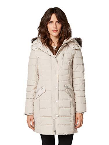 TOM TAILOR Damen Jacken Hybridmantel mit Kapuze Silver Grey,XL