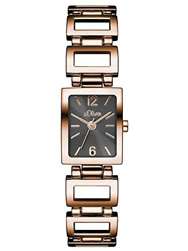 s.Oliver Damen-Armbanduhr Analog Quarz Alloy SO-3034-MQ