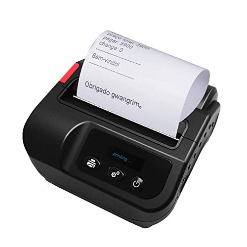 Mini Receipt Printer Bluetooth, 80mm Portable Mobile Label Printers, Handheld High Speed Printing Machine, for Restaurant, Shop, Home Business Order Printing
