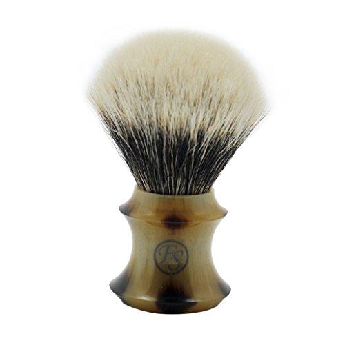 Handmade 2 Band Finest Badger Hair Shaving Brush by Frank Shaving Free Drip Stand