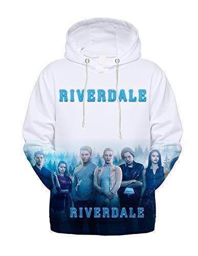 Siennaa Riverdale Pullover Damen, Teenager Mädchen Southside Serpents 3D Druck Hoodie Unisex Frauen Herren Kapuzenpullover Männer Kapuzen Sweatshirt Kinder Jungen Pulli Oberteile Shirt (3,S)