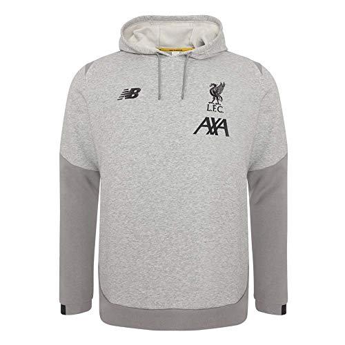 New Balance Men's Liverpool FC Base Overhead Hoodie, Grey Marle, 2XL