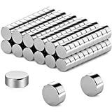 FINDMAG 120 Pcs 6 x 2 mm Fridge Magnets, Magnets for Whiteboard, Refrigerator Magnets, Small Magnets, Round Magnets, Mini Magnets, Neodymium Magnet, DIY Magnets Perfect for Home, School, Office etc
