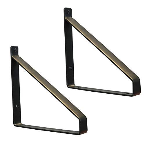 Soporte invisible soportes de hierro 10 soportes de soporte ocultos para estanter/ías flotantes y soportes de montaje con tornillo color marr/ón