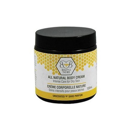 Natural Body Cream - 250 Ml - By Beauty and the Bee - With Healing Beeswax by Beauty and the Bee