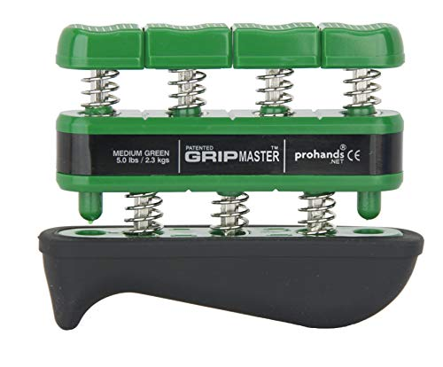 PROHANDS Gripmaster Rehab Hand Exerciser, Finger Exerciser (Hand Grip Strengthener), Spring-Loaded, Finger-Piston System, Added Palm Cushion, (5 lb Medium Tension, Green-Gripmaster Rehab)