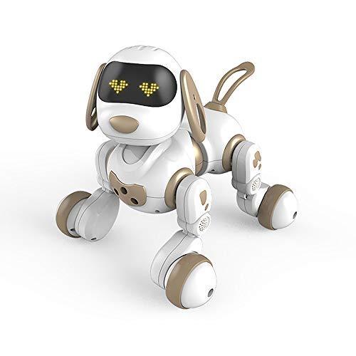 Lihgfw Intelligente Fernbedienung Hund zu Fuß elektrische Welpen Spielzeugroboter for Kinder über 3 Jahre alt schwarz 21.5 * 23cm (Color : Champagne)
