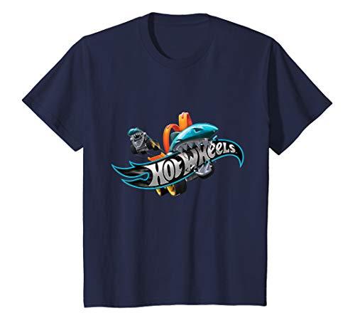 Kinder Hot Wheels T-Shirt, Jungs, Shark Bite, viele Größen+Farben