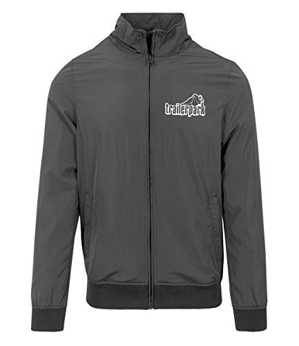 Trailerpark Trainingsjacke, Farbe:schwarz, Größe:M