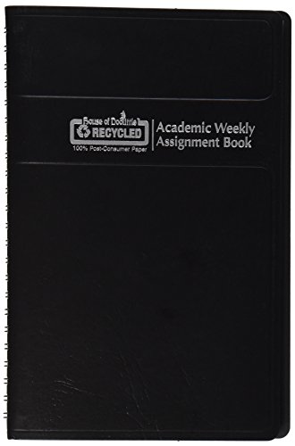 House of Doolittle 2015 - 2016 Academic Year Weekly Planner Assignment Book, Black Cover, 5 x 8 Inches (HOD27502-16)