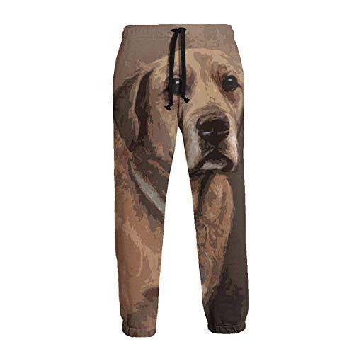 Lewiuzr Labrador Retriever Dog Men 'S Pantalones Deportivos Pantalones Deportivos con Bolsillos