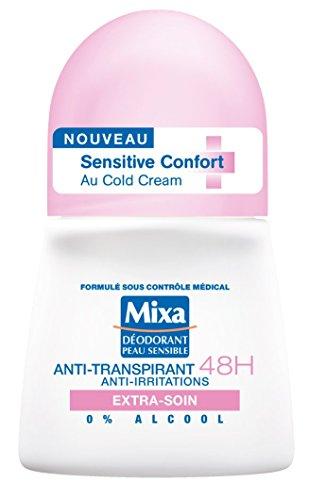 Mixa – Deodorant Damen Bille Anti-Transpirant 48 h Sensitive Komfort Extra-Soin – 50 ml