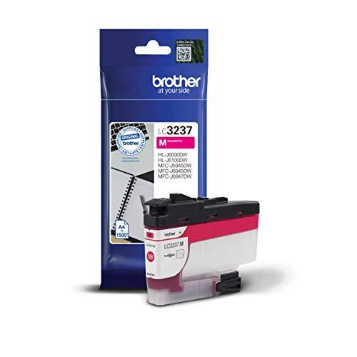 Brother Original Tintenpatrone LC-3237M Magenta (für Brother HL-J6000DW, HL-J6100DW, MFC-J5945DW, MFC-J6945DW, MFC-J6947DW) ca. 1500 Seiten nach ISO Standard 24711