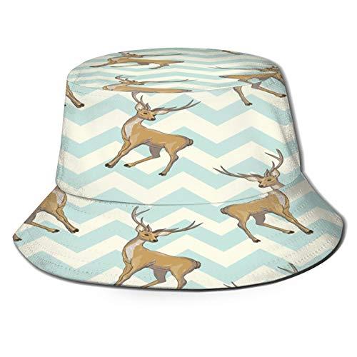 TTLUCKY Fishing Hat,Reindeer Seamless Pattern,Hiking Boonie Safari Sun Caps Traveling for Men&Women for Outdoor Gardening